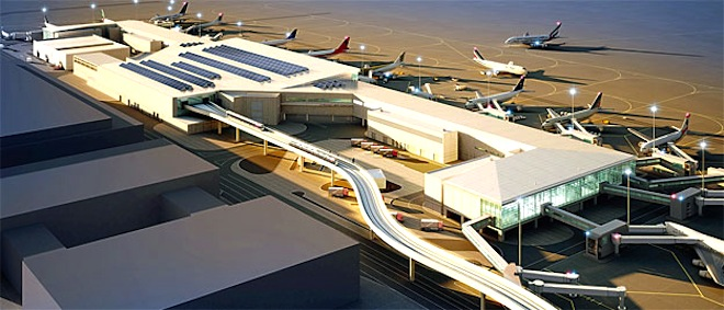 Dubai Airport, solar power, concourse D, green airports, sustainable development, Middle East