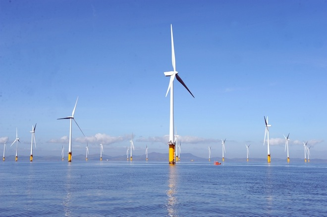 Offshore wind farm, wind energy, Masdar, London Array, renewable energy, clean tech, green tech, UK, E.On, Dong,