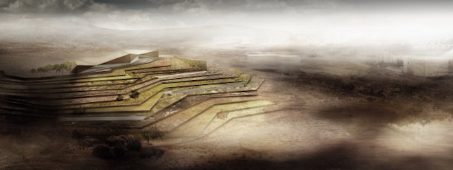 Lush Green Terraces Top the Palestine Museum by Heneghan Peng