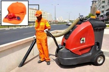 Dubai's Outdoor Workers Get Solar-Powered Cooling Hats!
