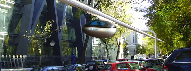 SkyTran, NASA, Israel, Tel Aviv, maglev, levitating pods, world's first magnetic transit system in Israel, public transportation, urban development