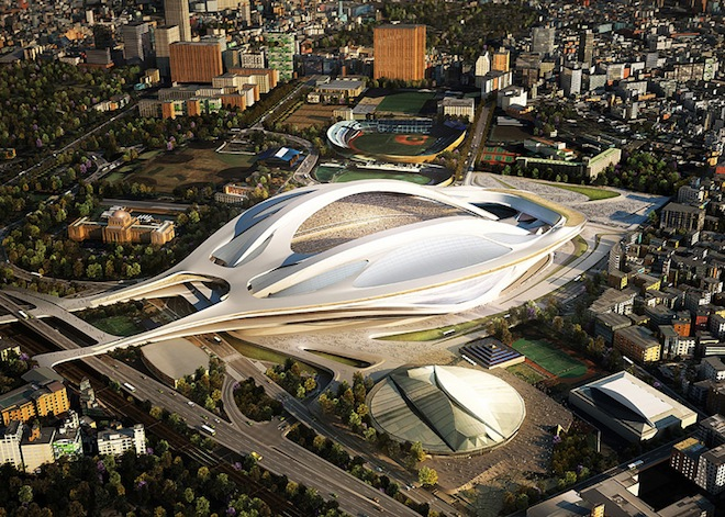 Japan National Stadium, Zaha Hadid Architects, geothermal energy, 2020 Olympics Stadium, green design, sustainable design, eco-design