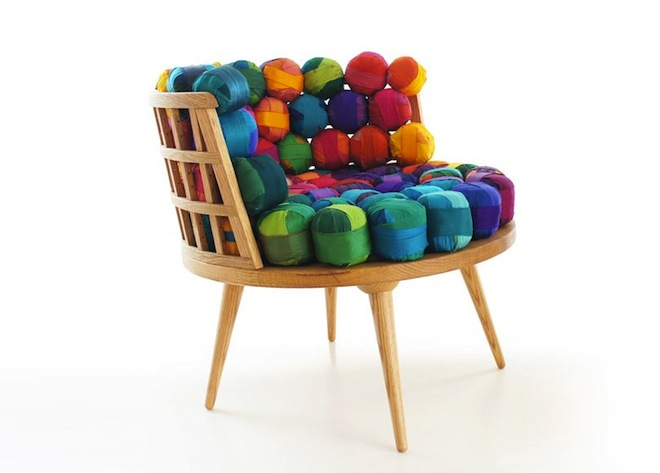 Gorgeous Recycled Silk Furniture from Turkey's Meb Rure