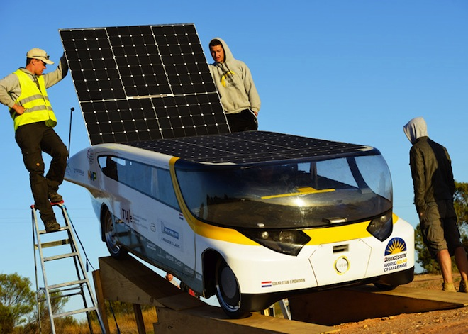 First Practical Sun Powered Car Stella Wins World Solar