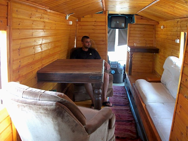 Old Bus Converts To Mediterranean Penthouse Suite On