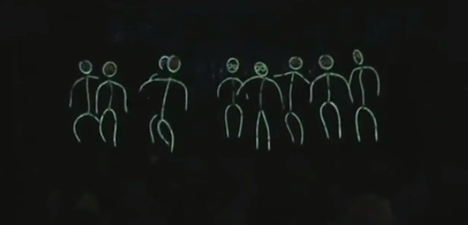stickman dance from glow sticks & LED Lights Stickman Costume Shows Simple Is Sweet (and Green ...