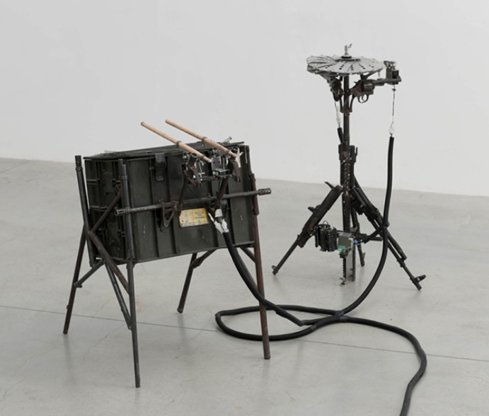 Pedro Reyes' Disarm musical-instruments-made-from-guns