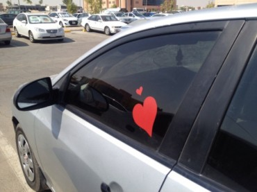 "Saudis Show ""Love"" Using Car Art Bumper Stickers, With a Twist"
