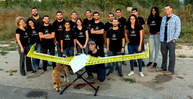 3 d printed plane airplane israel, team of students from the Technion