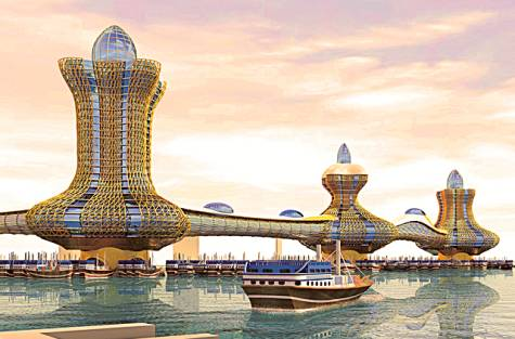 Dubai unveils lamp-shaped 'Aladdin City' towers