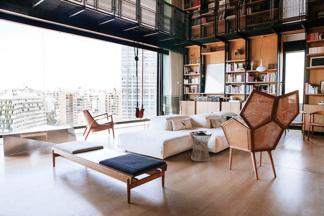 Bernard Khoury  DW5  Beirut  Brutalist architecture  Lebanon  rooftop  penthouse  Middle. Bernard Khoury s rooftop penthouse overlooks  cannibalized  Beirut