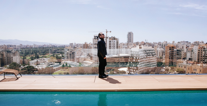 Bernard Khoury's Brutalist rooftop penthouse overlooks 'cannibalized' Beirut