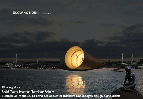 Blowing Horn, Hooman Tahvilder Akbary, Iran, wind energy, renewable energy, energy as art, green design, clean tech, Copenhagen, multi-rotor turbine,