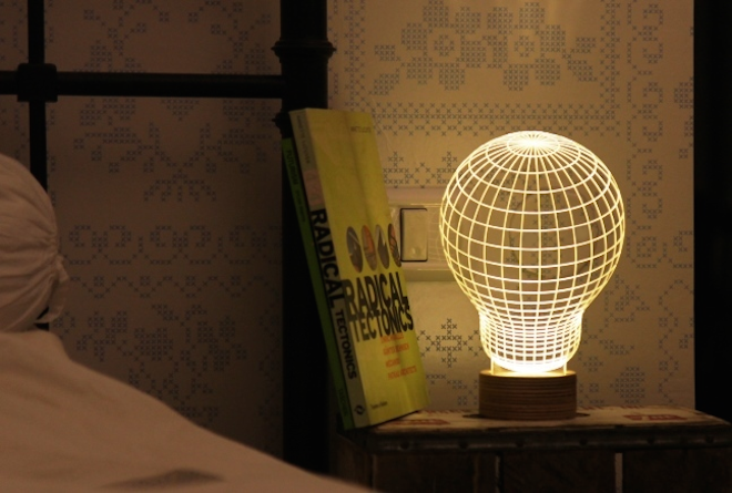 Bulbing: optical illusion tricks us into thinking this flat LED lamp is 3D