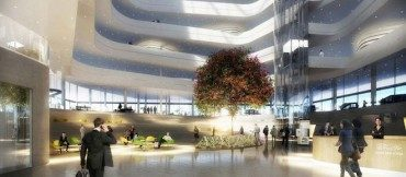 Cliche Arab references in Libyan bank design by Henning Larsen Architects