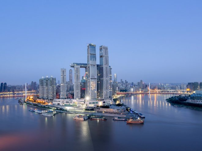 Moshe Safdie Architects, china, Raffles City, The Crystal Skywalk