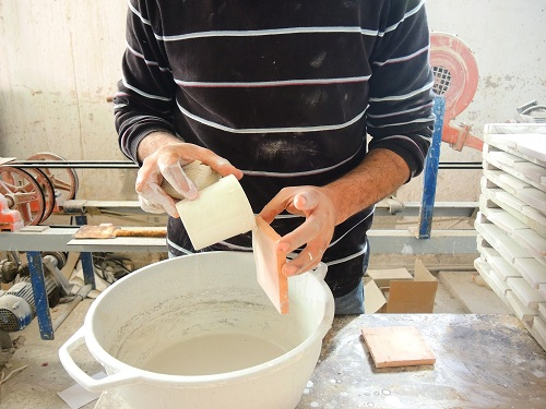 Tunisian Handmade Tiles process2
