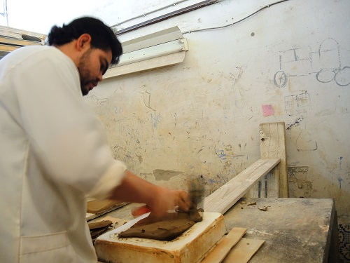Tunisian Handmade Tiles process 1