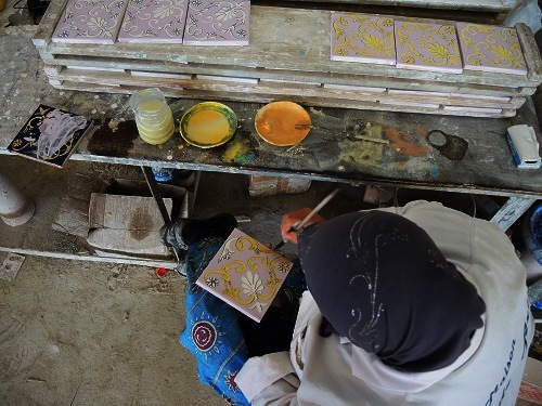 Tunisian Handmade Tiles process 4
