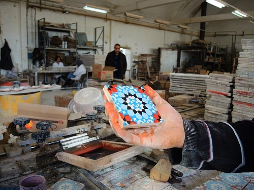 Tunisian Handmade Tiles process 3