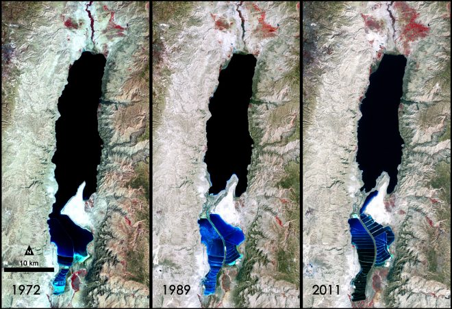 shrinking dead sea