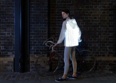 Car sensing cycling jacket with LED lights – when design gets silly!
