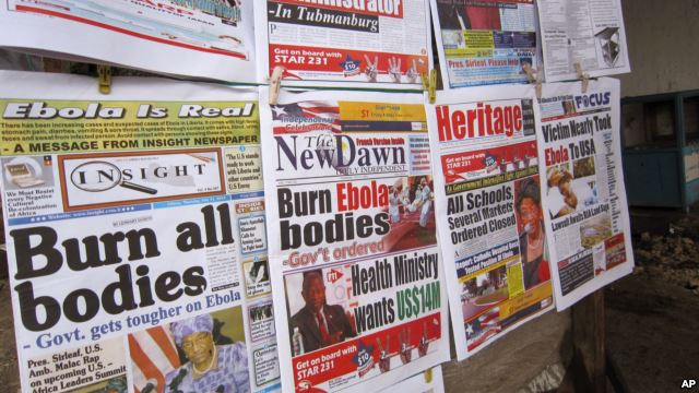 Ebola news articles