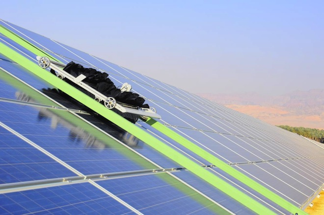 Eccoppia S Waterless Robots Clean Solar Panel Dust In