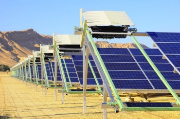 Eccoppia's waterless robots completely clean solar panel dust in Israel