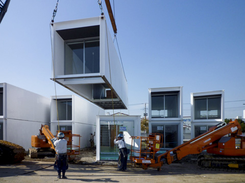 refugee housing, temporary shelter, humanitarian design, refugee shelters, homes for refugees, Ex-Container, Japan