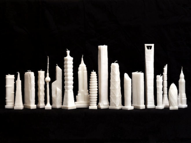 Flammable tower, Jing Jing Naihan Li, skyscraper candles, burning tower candles, Palm Tower, Aspire Tower, Doha Skyline, development, architecture,