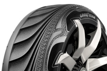 Thermo-piezoelectric tires by Goodyear produces energy for your electric car