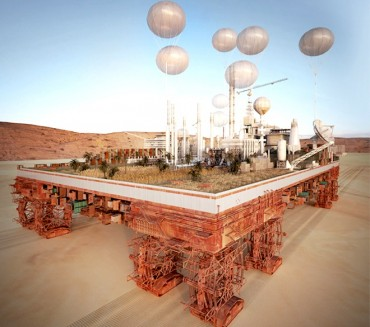 "This ""Green Machine"" mobile city fertilizes the Sahara Desert as it moves"