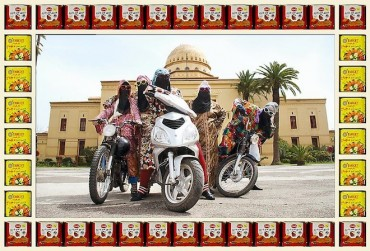 Retro biker chicks from Morocco in photos