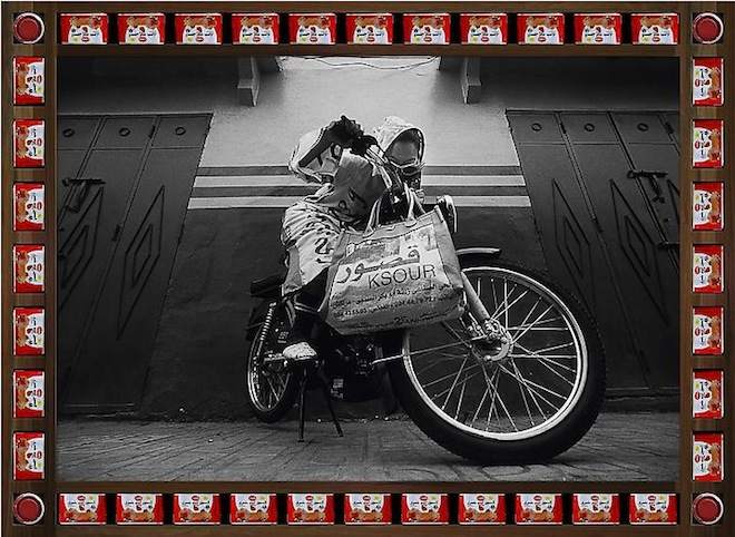 Hassan Hajjah, Kesh Angels, photograph, Moroccan biker chicks, Taymour Grahne Gallery, Art of the Middle East, pop culture, Arab art, biker chicks