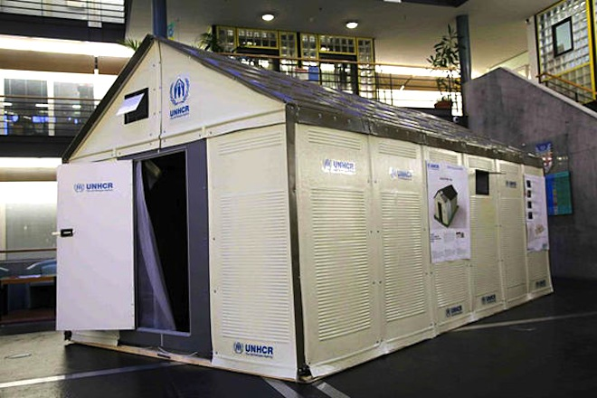 refugee housing, temporary shelter, humanitarian design, refugee shelters, homes for refugees, IKEA, solar-powered flatpack shelter