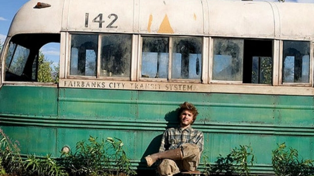 into the wild, at the bus photo from the film