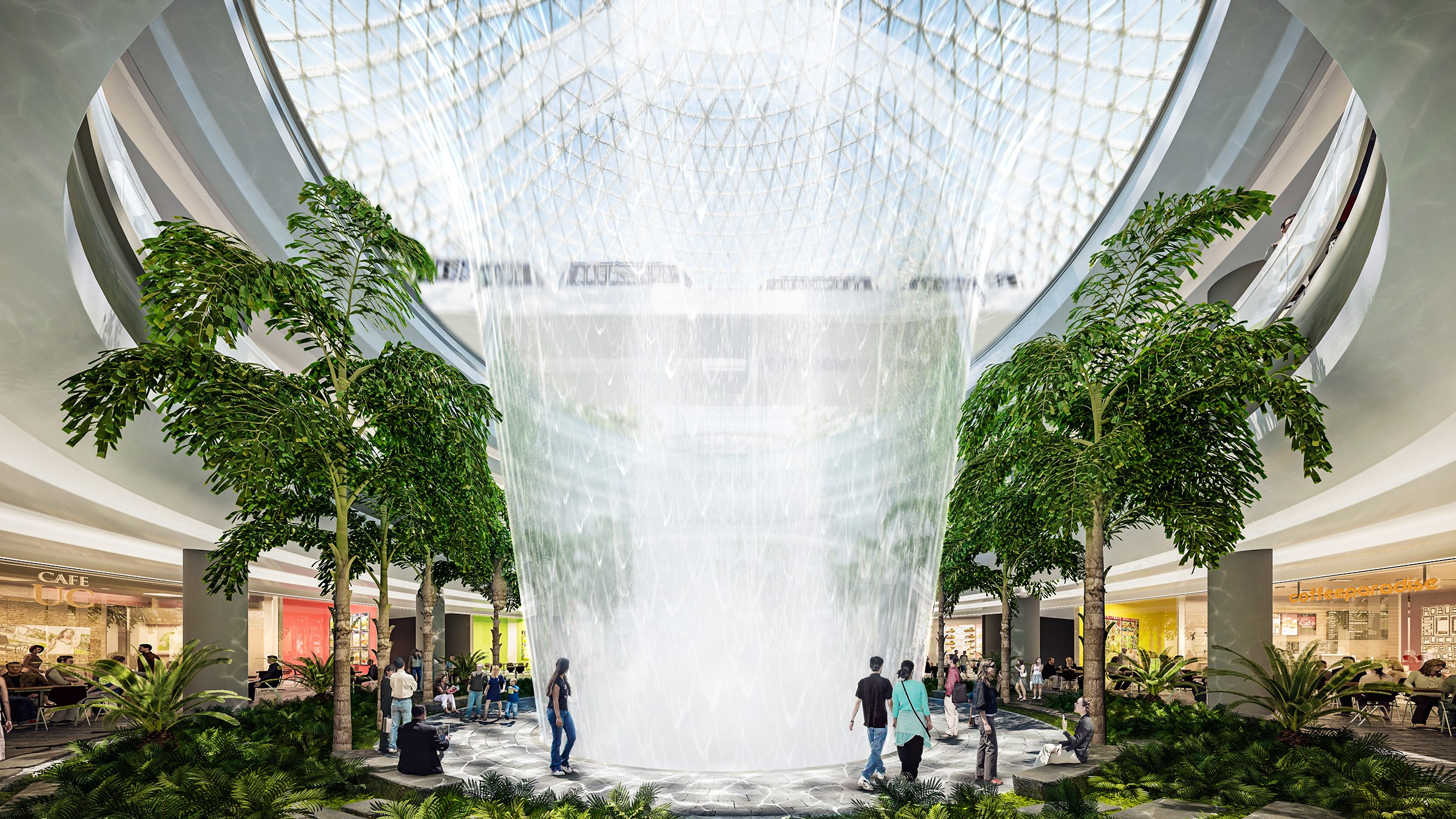 Safdie S Changi Airport Will House The World S Tallest Indoor Waterfall Green Prophet