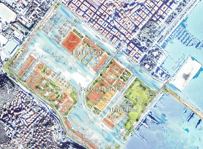 La Spezia Arsenale 2062, Erdem Architects, La Spezia, green design, Turkey, Italy, La Spezia, hand drawn renders, design competition, urban design, urban rehabilitation