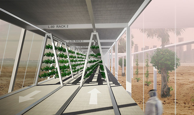 Oaxis Solar Powered Hydroponic Food Belt Proposed For The