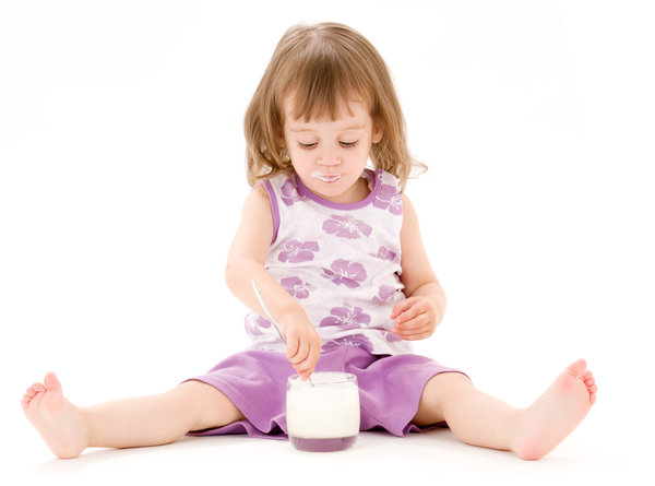 image girl with kefir