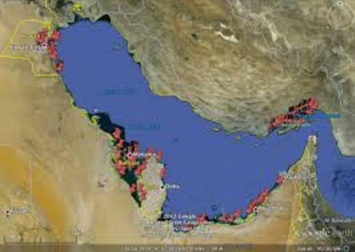 Locations of Weir fish traps in Arab Gulf