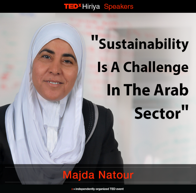 TEDx Hiriya, arabs and jews talk change, Hiriya recycling center, SalesPredict, green Alzahraa school, geotectura, vertigo