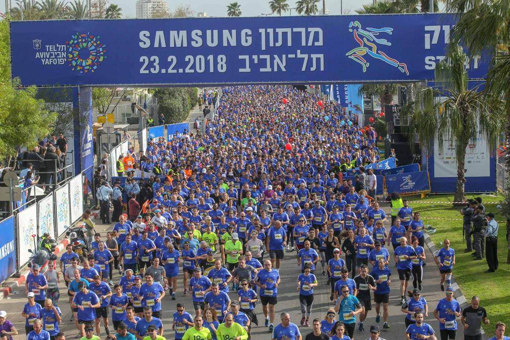 40,000 runners marathon around Tel Aviv's architecture and white sand