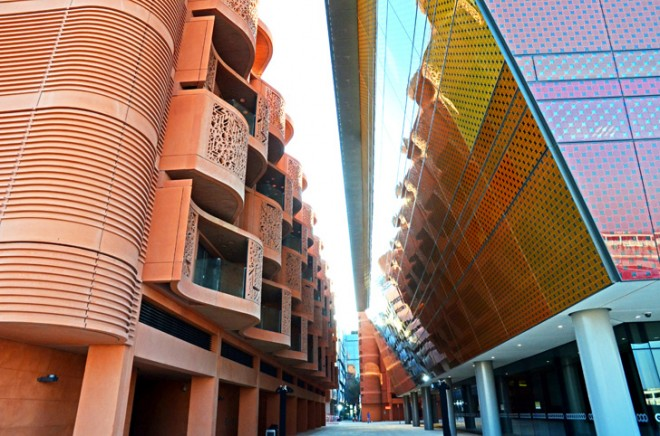 Masdar Incubator Building, Foster & Partners, clean tech, free economic zone, green design, Masdar City, Abu Dhabi