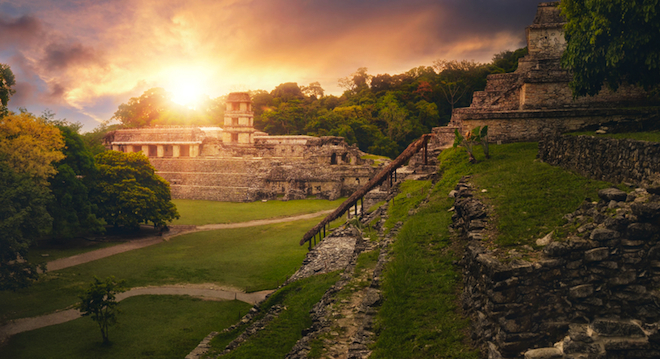 Mayan ruins, Palenque, NASA, collapse of industrial civilization, climate change, global warming, economic collapse, collapse of working class, Bill McKibben, Jim Hansen