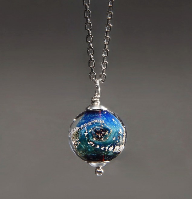 Cremated remains made into jewelry