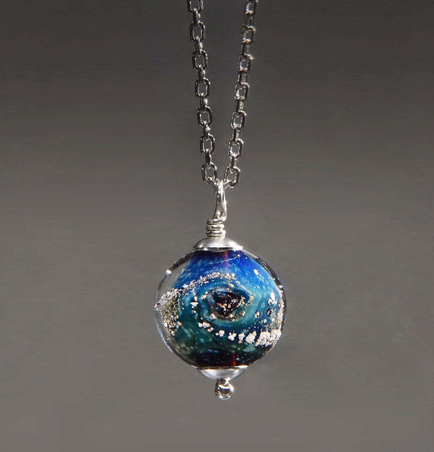 into the jewelry capture your loved ones in custom glass planets green 8496