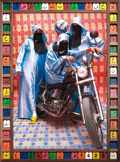 Moroccan biker chick fashion in hijab