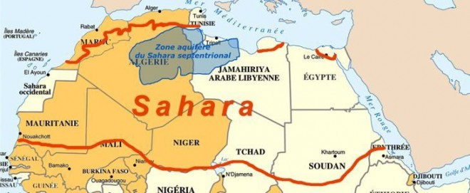Shale gas fracking North Western Sahara aquifer